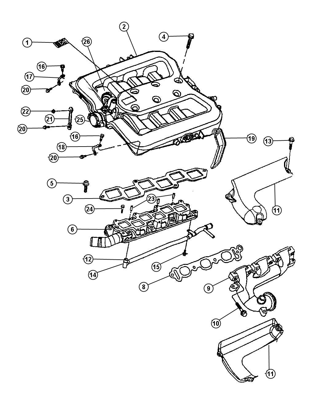 Chrysler Concorde Shield Exhaust Manifold Upper