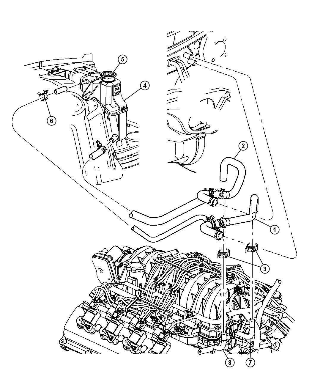 Chrysler 300 Tube Coolant Outlet Heater Plumbing
