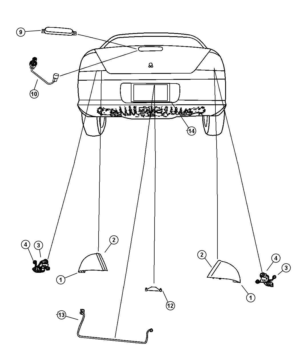Chrysler Sebring Lamp Tail Stop Turn Left Lamps