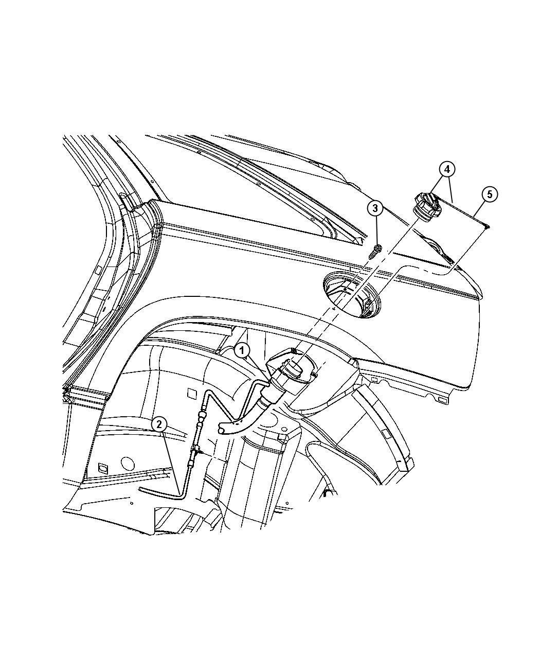 Chrysler Pacifica Tether Fuel Filler Cap