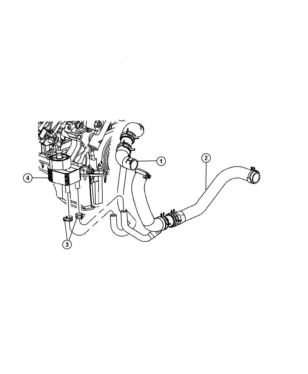 Chrysler 300 Hose Radiator Inlet Engine Oil Cooler