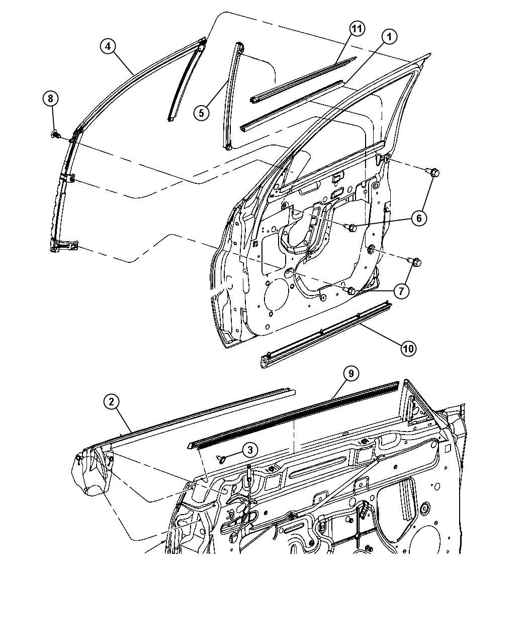 Chrysler Pt Cruiser Weatherstrip Front Door Belt Right