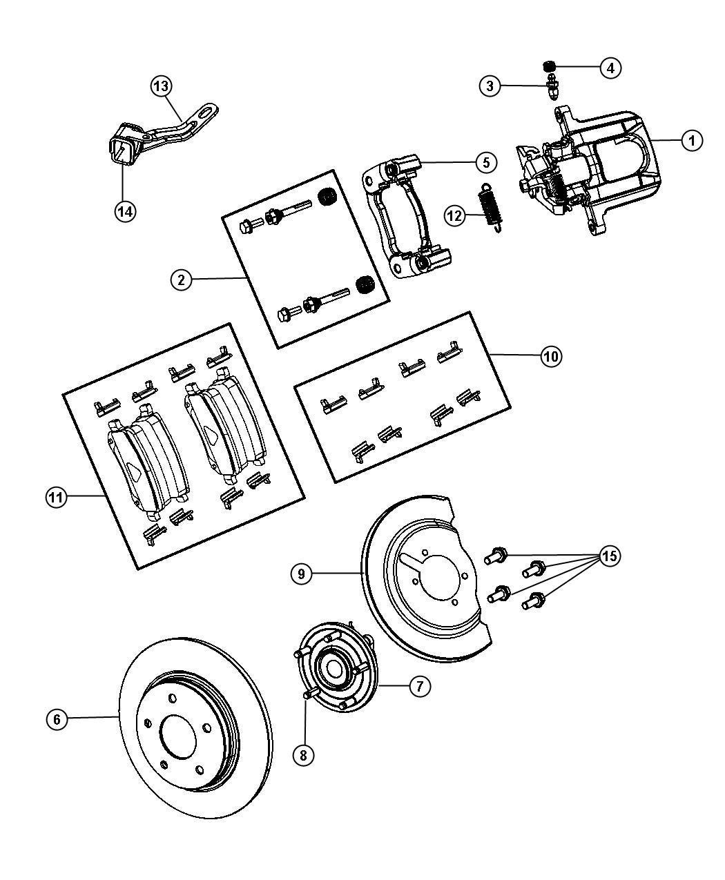 Chrysler Town Amp Country Pad Kit Rear Disc Brake Anti