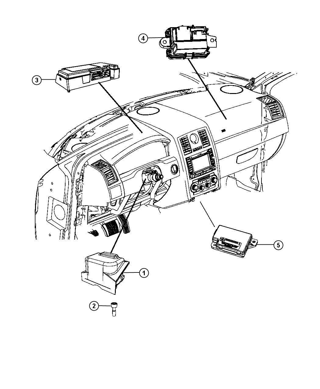 Chrysler 300 Module Telematics Uconnect Command