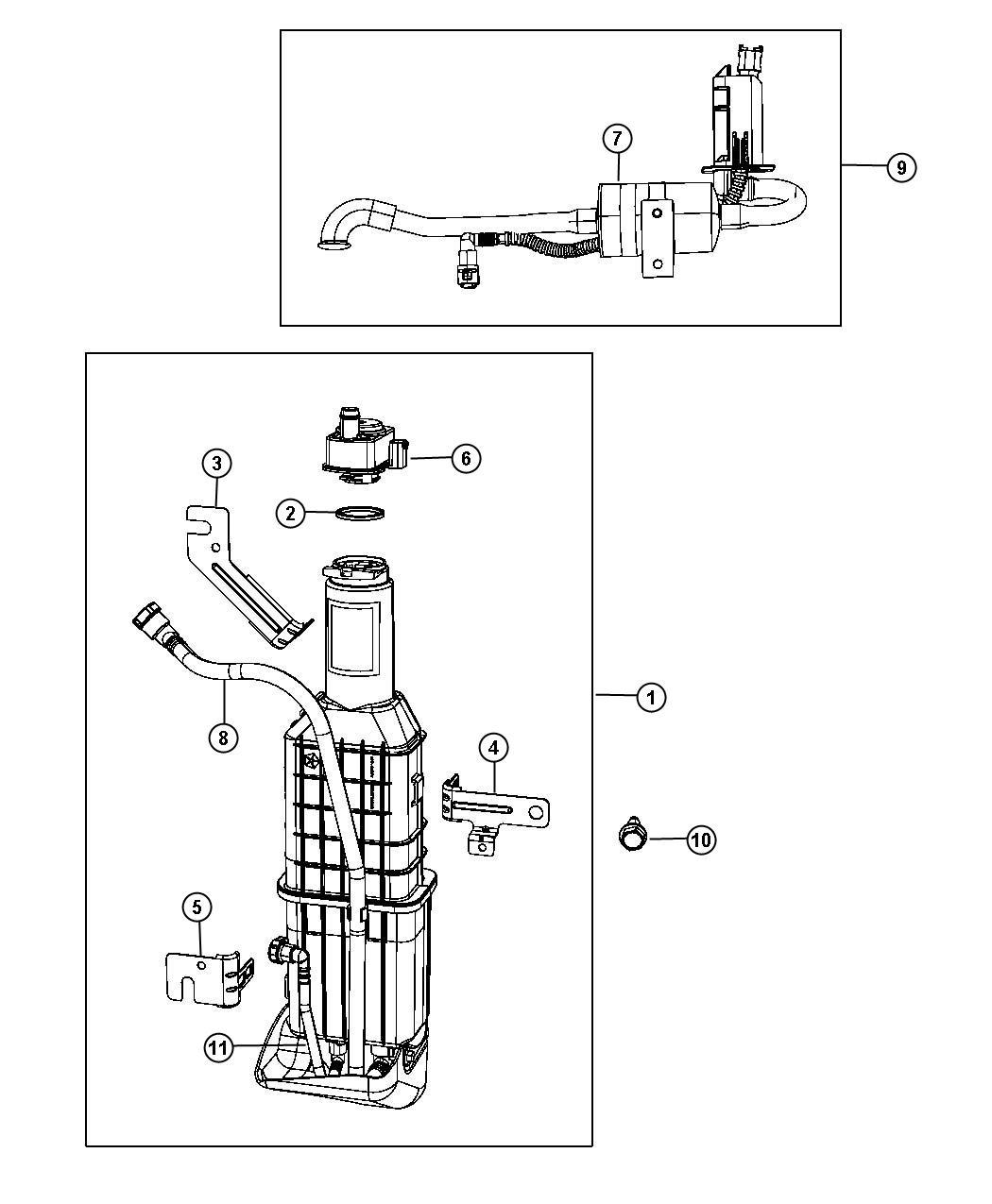Chrysler Sebring Filter Fuel Vapor Vent Canister