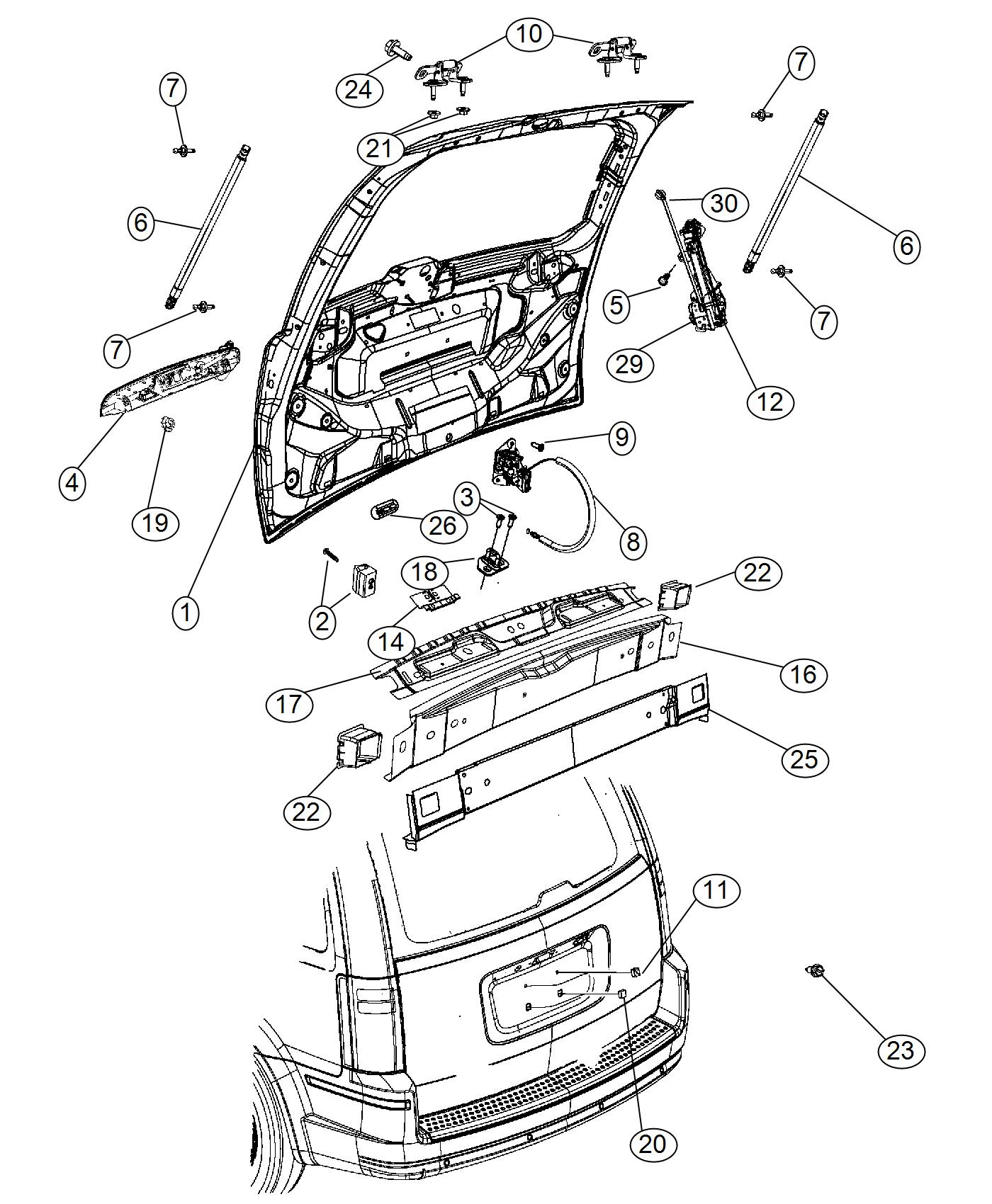 Chrysler Town Amp Country Panel Liftgate Opening Seats