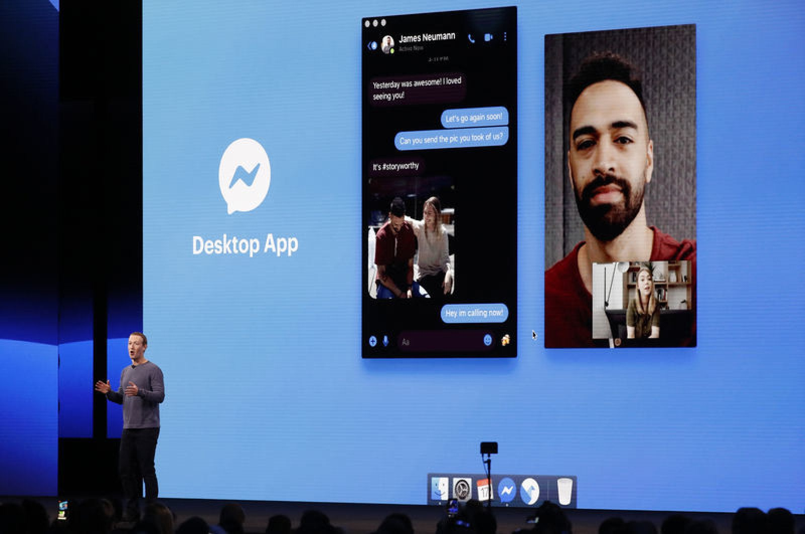 Facebook F8 conference messenger