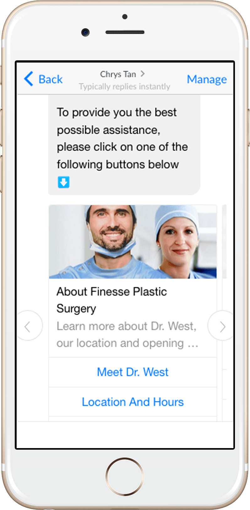 Facebook Messenger Bot Plastic Surgery