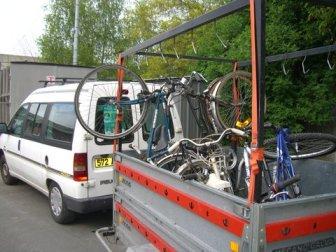 La première vente des Vélos de l'Espoir en 2009