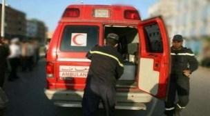 اصابة 13 شخص جراء إنهيار جزء من مدرج حلبة التبوردة بمهرجان الجمل بكلميم