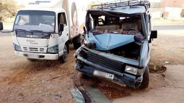 أولاد تايمة: مصرع سائق سيارة للنقل المزدوج بعد حادثة سير خطيرة