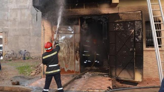 "عاجل…بالصور اندلاع حريق ب""سوق الثلاثاء"" بانزكان"