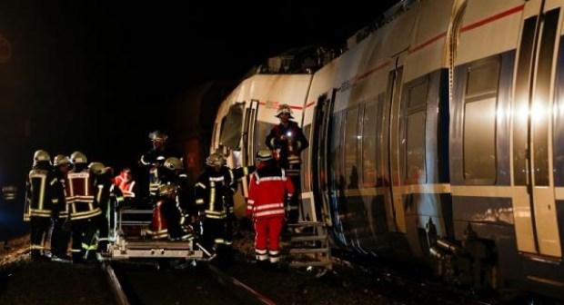 إصابات في حادث تصادم قطارين بغرب ألمانيا
