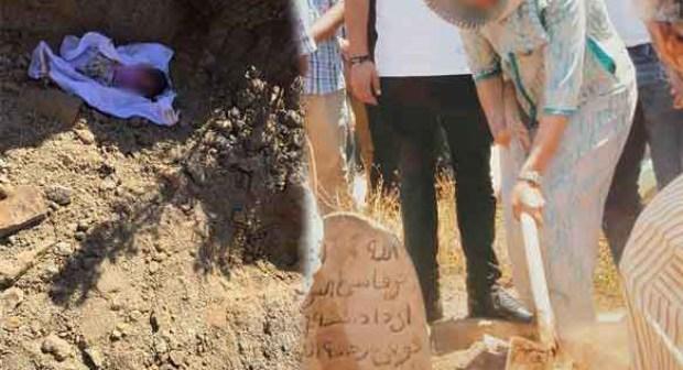 امرأة تتخلص من طفلتها بدفنها حية وسط حديقة عمومية
