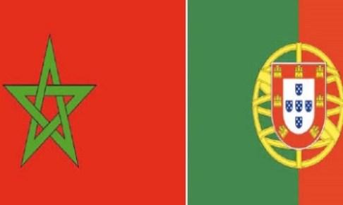 كريستيانو يسجل هدف البرتغال الأول على المنتخب المغربي