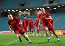 المنتخب الوطني يجري آخر حصة تدريبية قبل ودية تونس