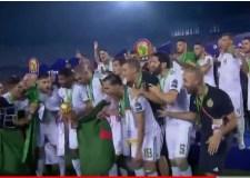 شاهد بالفيديو لحظة تتويج المنتخب الجزائري بكاس إفريقيا للأمم