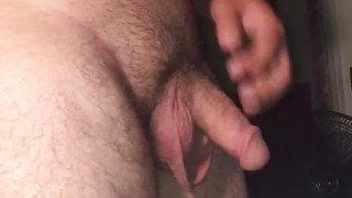 Chubby amateur undressing showing cock and ass
