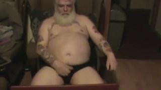 Old man having a wank