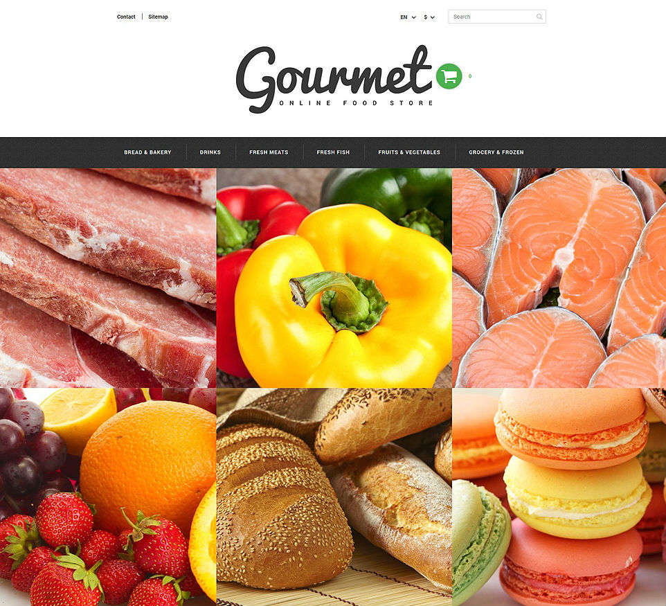 Gourmet Food Shop PrestaShop Theme