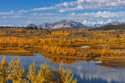 Lower St Mary Lake in autumn near St Mary, Montana, USA