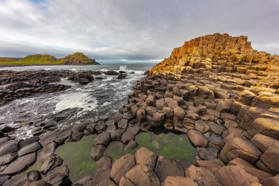 Basalt at the Giant's Causeway near in County Antrim,Northern Ireland