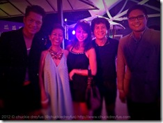 (L-R) Dong Ronquillo (Globe Telecom Head of Nomadic Broadband Business), Mommy Beth Angsioco, Yen (my wife), me & Kevin Yapjoco