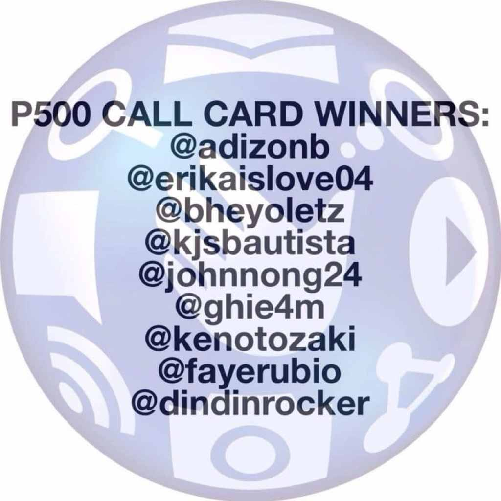 Php 500.00 Call Card Winners