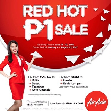 Philippines AirAsia Red Hot Piso Sale
