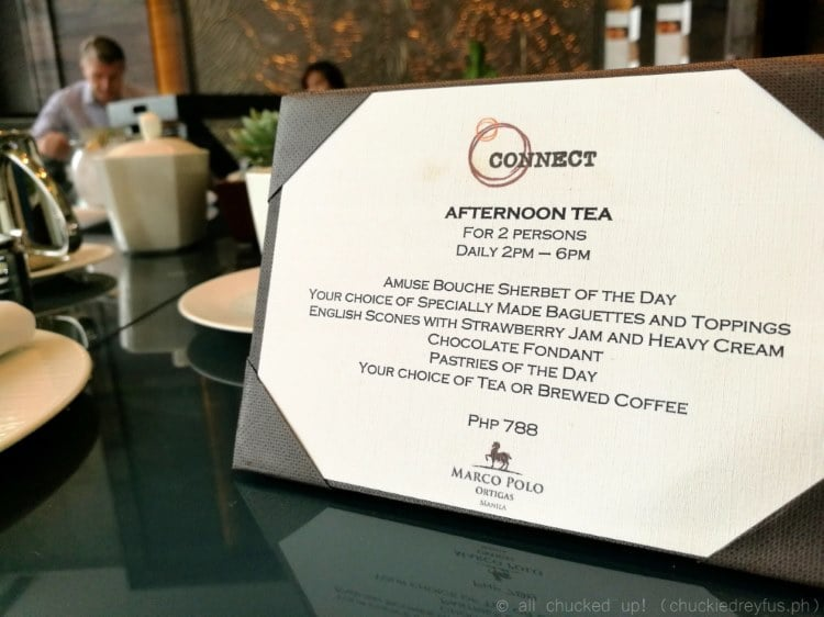 Afternoon Tea at Marco Polo Ortigas - Connect Lounge