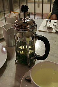 chá com Valentina