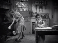 Shirley making cookies