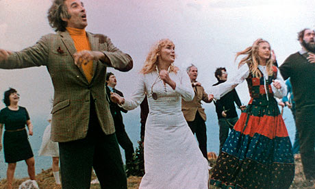 Christopher Lee, others, in The Wicker Man