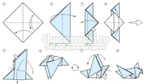 Птица из бумаги: как сделать? Пошаговые мастер-классы с фото