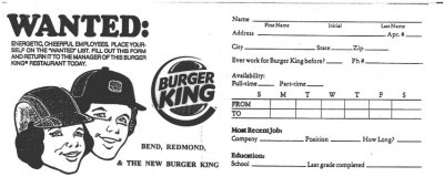 Poorly done Burger King help wanted flyer (click to see larger version)