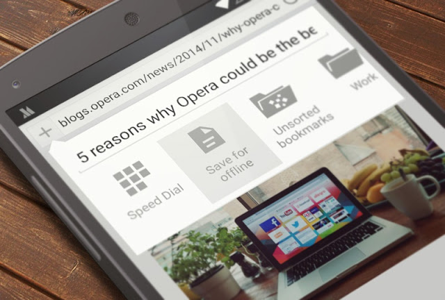 Saved pages in Opera Mini