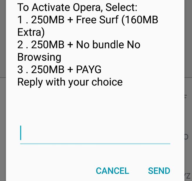 cheap internet - Opera mini bundle