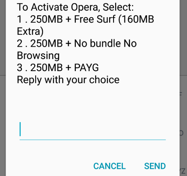 cheap internet - Opera mini bundle