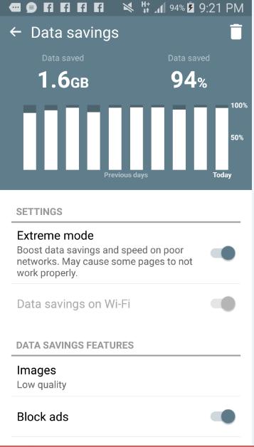 cheap internet - data savings with Opera Mini