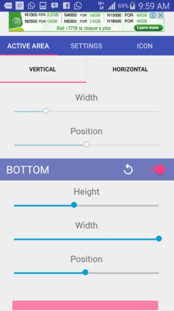Android navigation key