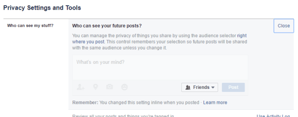 Customize who sees your older and future posts