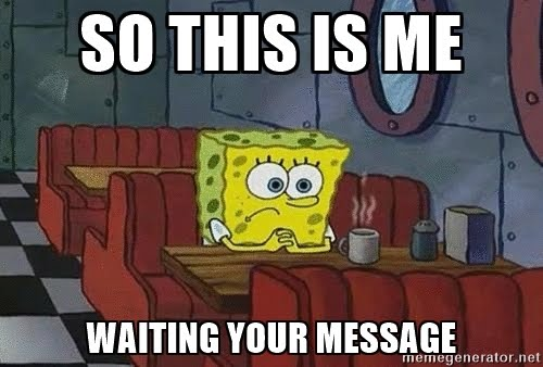 Whatsapp waiting for message