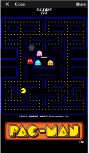 PAC-MAN on Facebook Messenger