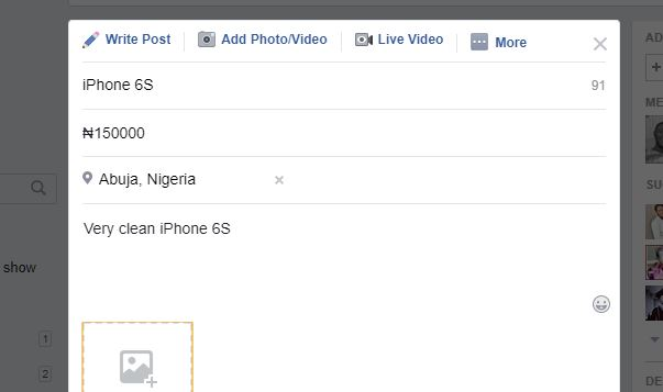 Change currency on buying and selling Facebook groups
