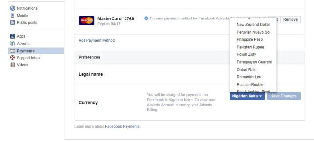 How to change currency on Buying and Selling Facebook Group