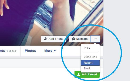report fake facebook account