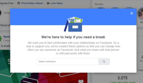 take a break facebook friends
