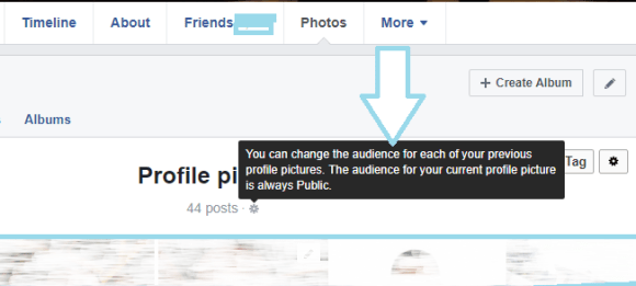 How to hide Facebook Profile Picture from public