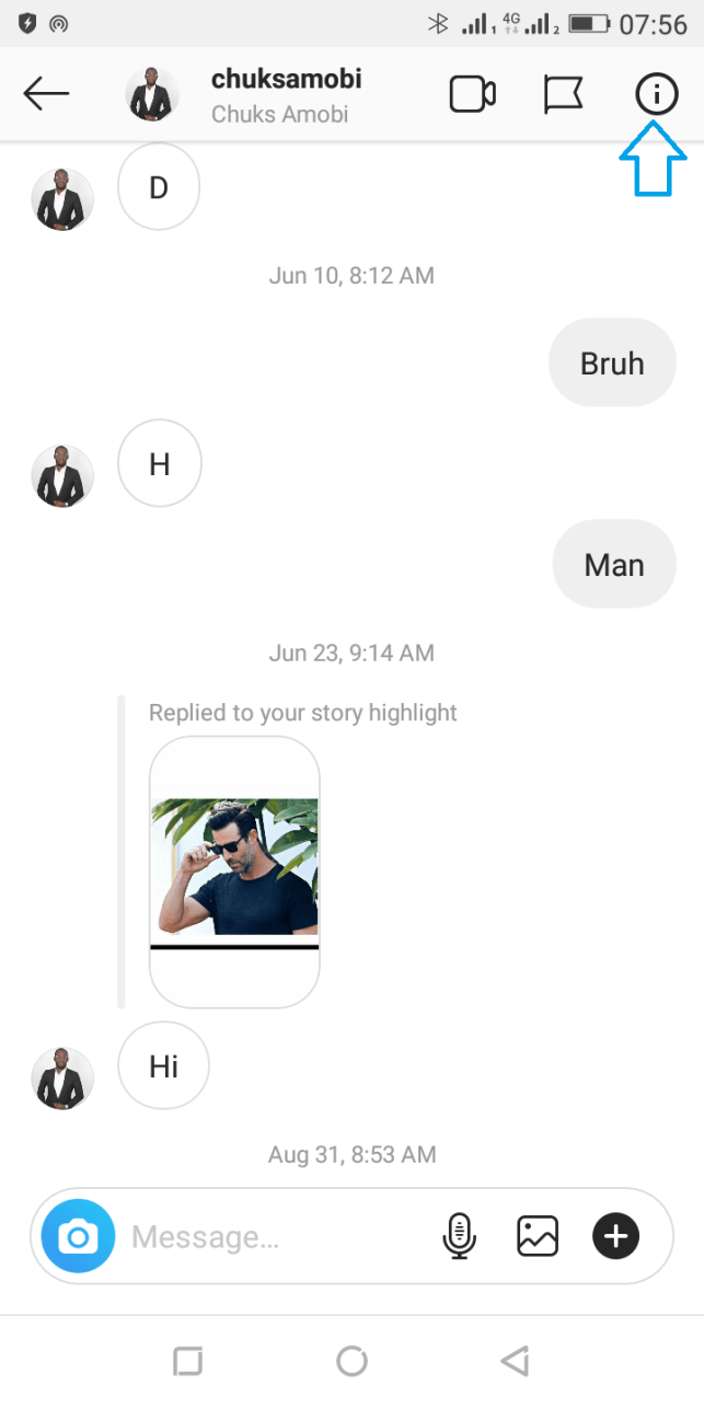 ignore instagram messages