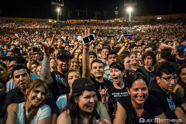 The Chula Vista Amphitheater wild crowd
